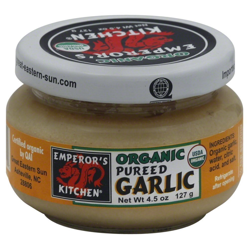 Emperor's Kitchen Organic Pureed Garlic, 4.5 Ounce (Pack of 12)