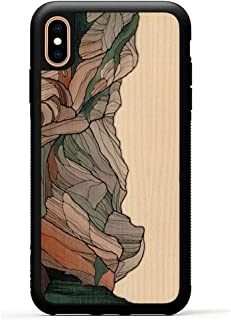 product image for Carved - iPhone Xs Max Luxury Protective Traveler Case - Unique Real Wooden Phone Cover - Rubber Bumper - Half Dome Print