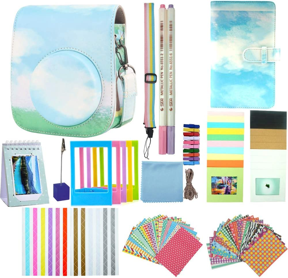Anter instant camera accessories set for instax mini 11 camera camera case//Film Album//Memo Clip//Pen//Strap//Photo Frame//Stickers//Hanging Frames Hot Air Balloon