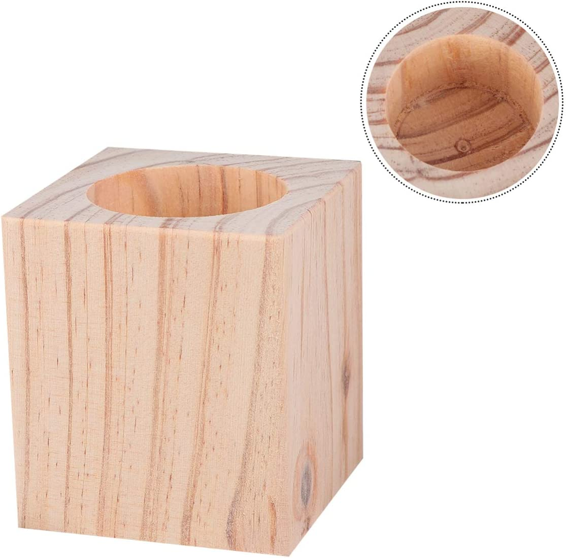 BESPORTBLE Bed Risers Furniture Risers Lifts Height 5cm Solid Natural Wood Risers for Bed Furniture Table Sofa Chair Risers with Non-Slip Recessed Hole