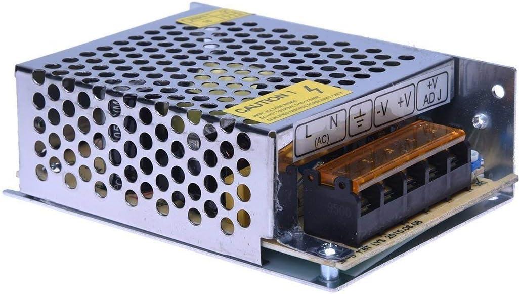vidoelettronica ALIMENTATORE STABILIZZATO PER TELECAMERE VIDEOSORVEGLIANZA STRISCIA BOBINA A LED SWITCH TRIMMER 5A 220V 12V DA 5 AMPERE