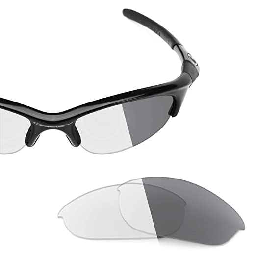 6374b5645f Revant Replacement Lenses for Oakley Half Jacket (Asian Fit) Elite Adapt  Grey Photochromic