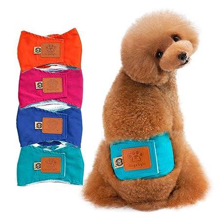 KOBWA Pawaca pañales Reutilizables y Lavables para Perro, pañales menstruales para Perros y Cachorros para Mascotas, cómodas y Elegantes, pañales para ...