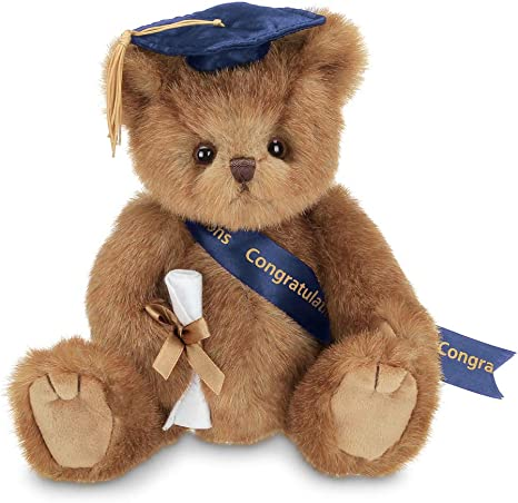 Bearington Smarty Class of 2021 Graduation Teddy Bear in Blue Cap