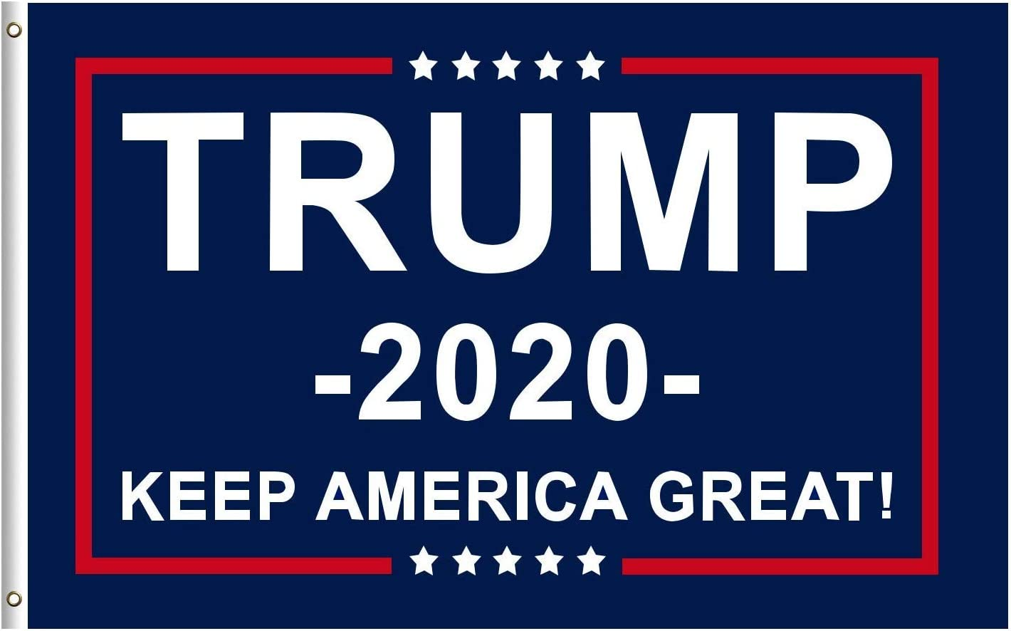 Amazon.com : Donald Trump for President 2020 Keep America Great Flag Banner  Go Trump 2020 Flag 3x5 Feet with Brass Grommets : Garden & Outdoor
