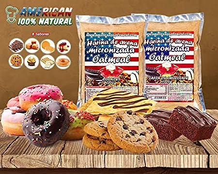 American Suplement - 1000 gr - Harina de Avena Integral, ideal para tortitas, batidos, bizcochos y magdalenas (CHOCO BLANCO CON GOFRE): Amazon.es: Salud y cuidado personal