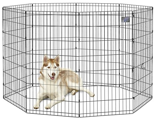 "MidWest Foldable Metal Exercise Pen / Pet Playpen, 24""H x 48""W"
