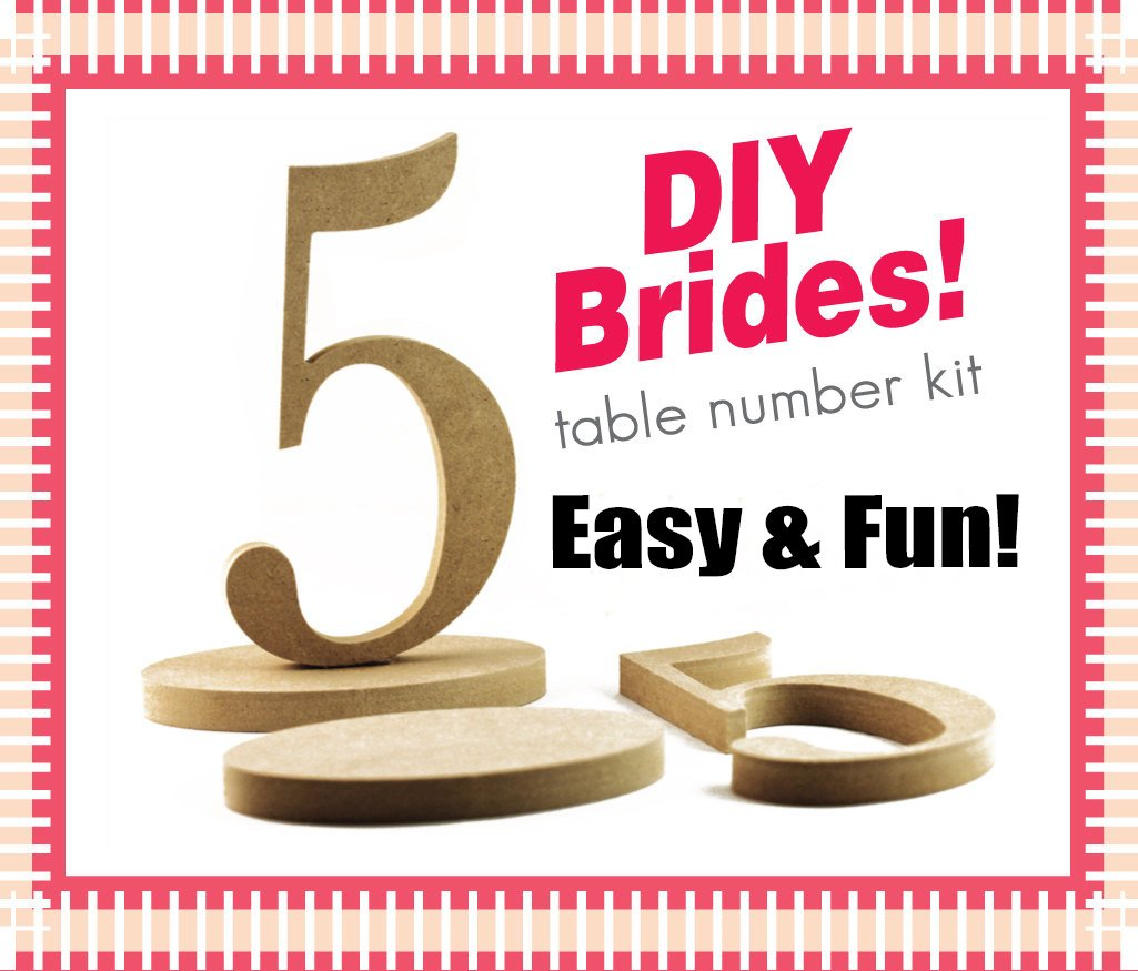 Unfinished Wood Numbers 20 Wooden Table Numbers DIY Do It Yourself Wedding Table Number Kit Craft