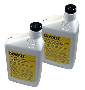 DeWalt Compresor De Aire De Repuesto (2 unidades) aceite # 5130427 - 00 - 2PK: Amazon.es: Hogar