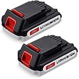 FirstPower LBXR20 3.6Ah 2Packs - Compatible with Black & Decker 20V Battery Lithium Cordless Tool - LB20 LBX20 LST220 LBXR2020-OPE LBXR20B-2 LB2X4020 Extended Run Time