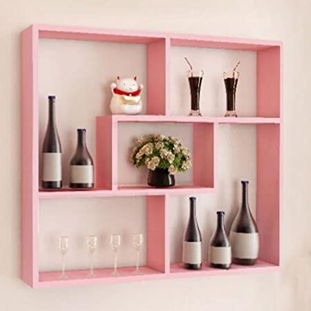 HAIZHEN Wall Storage Shelves Living Room Bookshelf Restaurant Wine ...