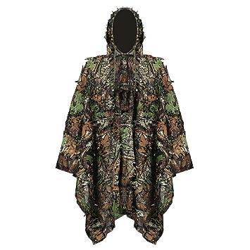 Camouflage 3D Leaf WOODLAND Tarnung Suit Overall Für WaldJagd