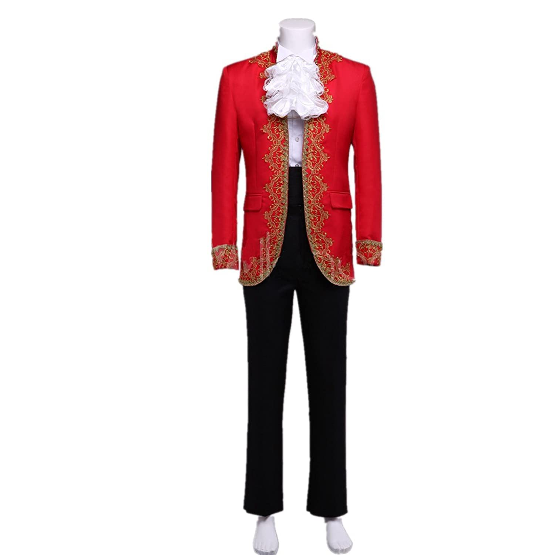 Xnaihuafei European Style Jacquard Men's Cool Royal Costume