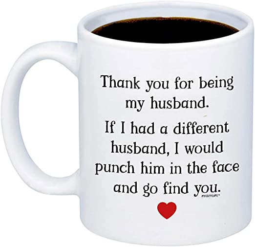 Husband Ever Coffee Mug 11oz Christmas Presents Gifts For Him Best Wedding Anniversary Gift Valentine Gifts To My Husband I Wish I Could Turn Back The Clock Birthday Fathers Day Gifts Novelty