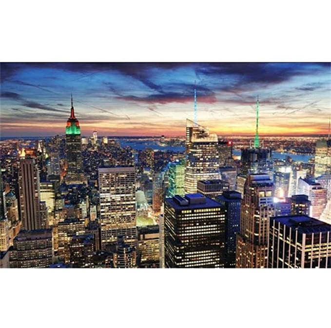 Ciudad de Nueva York paisaje papel tapiz fotográfico 3d ...