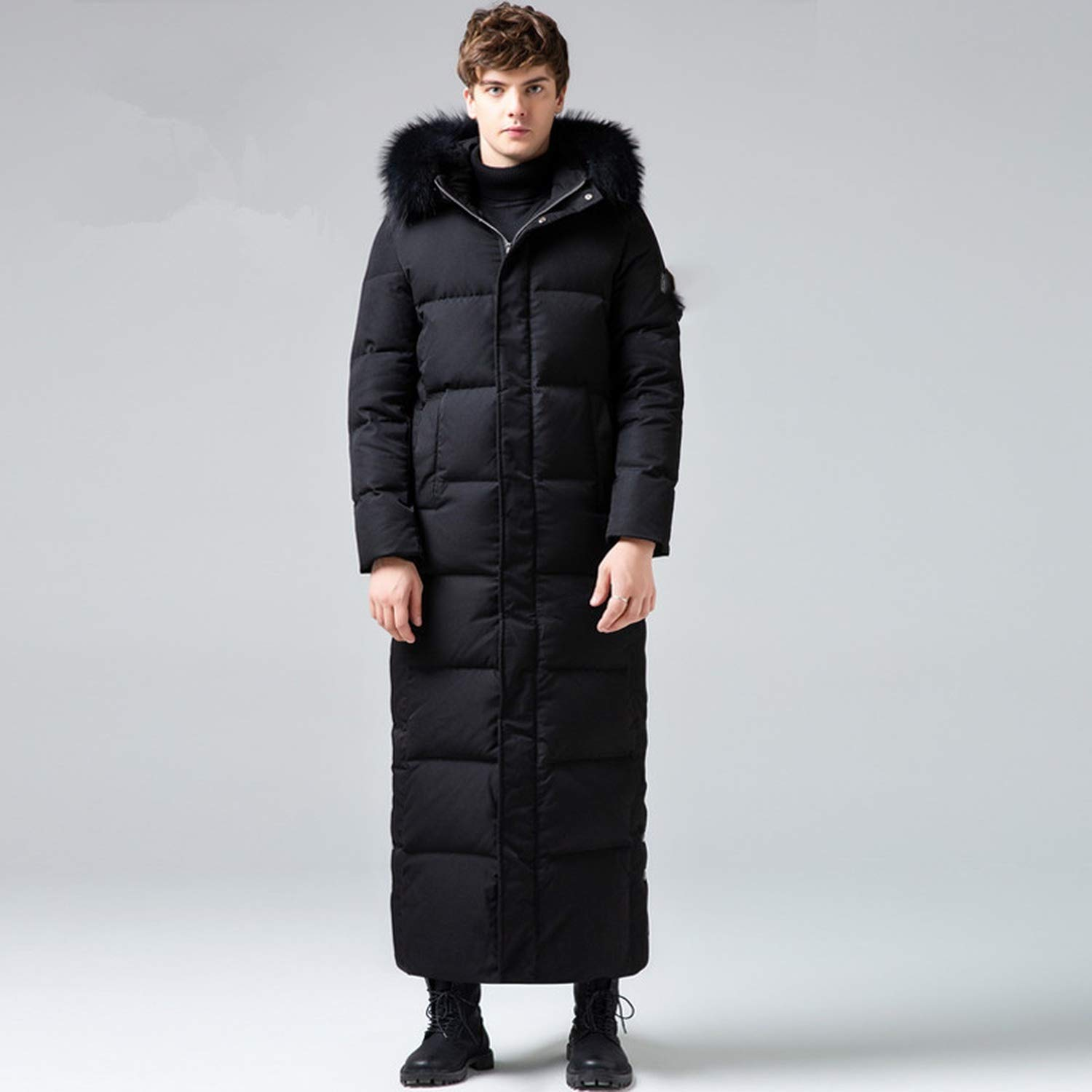 Amazon.com: Fresh -house The Item was Updated,Winter Down Jacket Men Long Coat Men R-accoon F-ur Collar Plus Size Warm Mens Jackets: Clothing