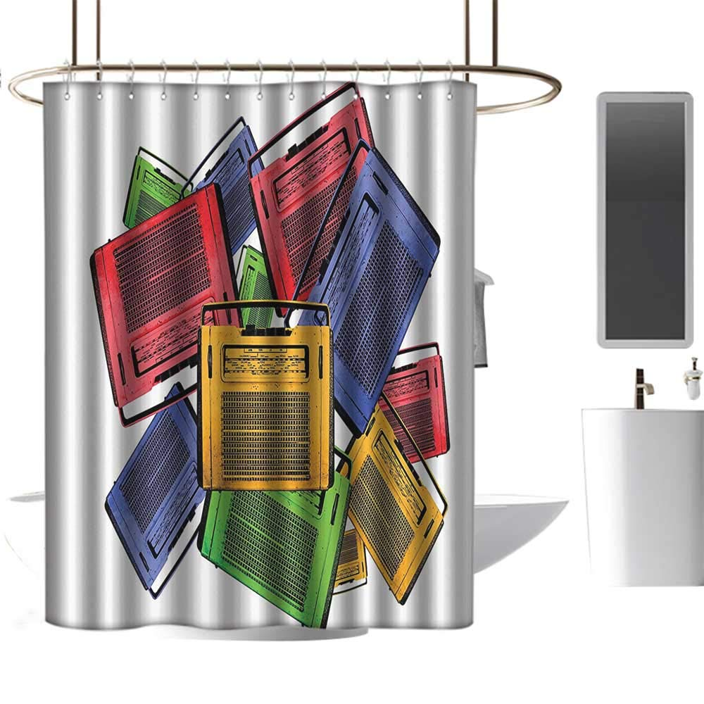 Amazon com: homehot Shower Curtains Tumblr 1960s Decorations
