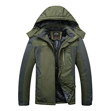 4dcb9d52624 Liangpin Women Waterproof Ski Jacket Insulted Fleece Winderproof Snow  Jackets for Snowboarding Army Green Small