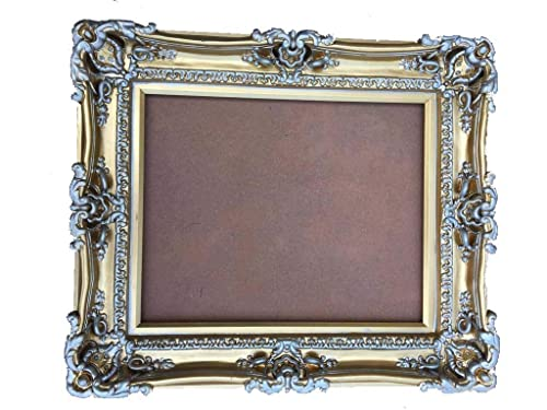 Pink /& gold ornate picture frames Baby shower gift ideas Girls nursery wall gallery decor Shabby distressed chic 5x7 photo frame