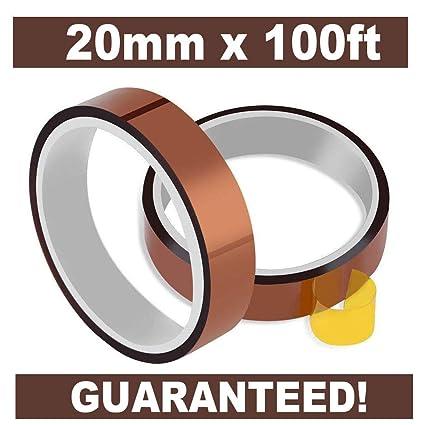 Cinta adhesiva Sidith resistente al calor, 2 rollos de 20 mm a 100 ...