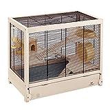 Ferplast HAMSTERVILLE Hamster Habitat Cage, Sturdy Wooden Structure,...