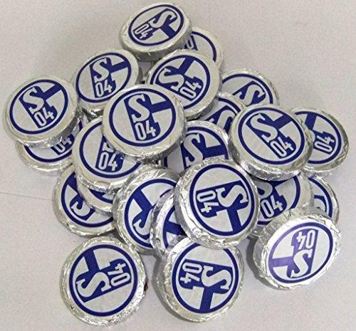 FC SCHALKE 04 Schokoladentaler 24 Stück + gratis Sticker, Schokotaler / Vollmilchschokolade / Schokolade / Taler