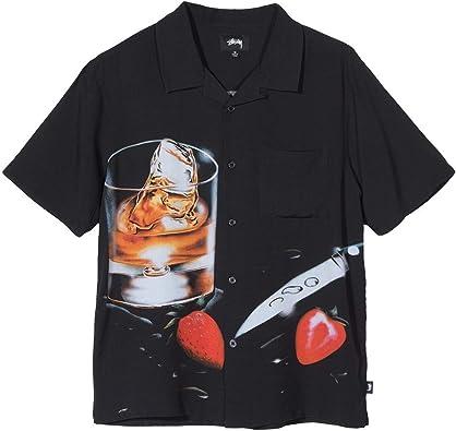 Stussy Camicia in Cotone 1110041 Black Size:S: Amazon.es: Zapatos y complementos
