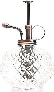 Purism Style Plant Mister- Clear Color Glass Bottle & Brass Sprayer (Antique Copper)