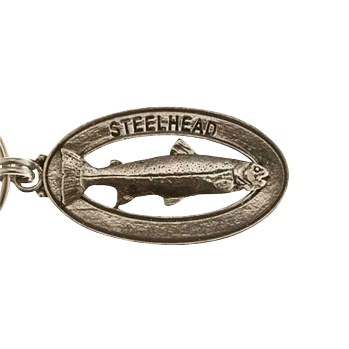 Creative Pewter Designs, Pewter Steelhead Key Chain, Antiqued Finish, FK034