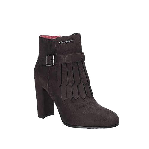 stile di moda del 2019 ultime tendenze del 2019 cercare GAI MATTIOLO Scarpe Donna Tronchetti camoscio Grigio L72 ...