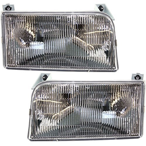 (Tiffin Allegro Bay 2001-2003 RV Motorhome Pair (Left & Right) Replacement Front Headlights with Bulbs)