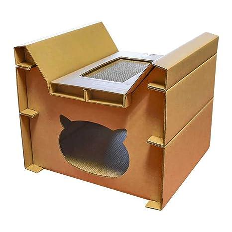 L&XY Cat Scratch Board Gato Casa Reciclable De Cartón DIY Montaje Almohadilla Rasguño Cat Gato Apartamento