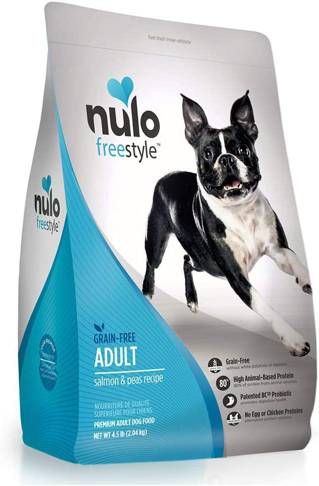 Nulo Grain Free Dog Food: All Natural Adult Dry Pet Food For Large And Small Breed Dogs (Salmon, 4.5Lb)