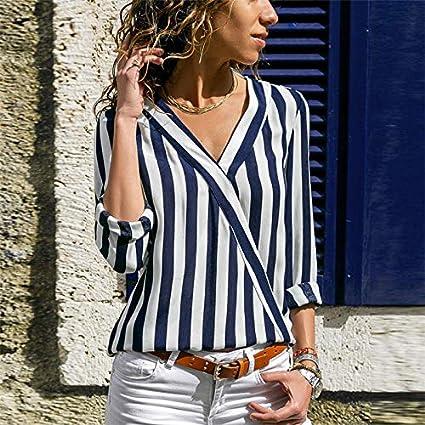 Blusa para mujer elegante Giwswfaf Blusa de manga larga para ...