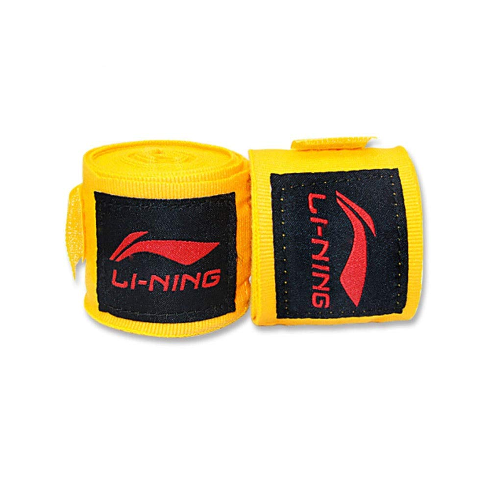 XIAONINGMENG Boxing Bandages, Boxing Sweat Bands, Gauntlets Muay Thai Sanda Training Bandages Hand Straps, Match Training Protective Bands, White/Yellow 5 Meters, The Best Choice for boxi