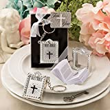 Silver Holy Bible Key Chain With A Real Miniature Paper Bible Inside , 24