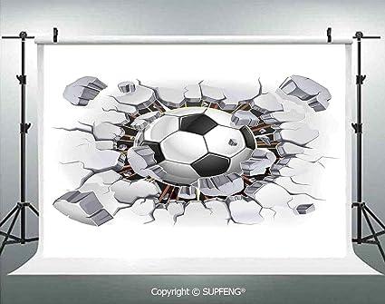 Fondo de fotografía de balón de fútbol y Yeso Antiguo, para Pared ...
