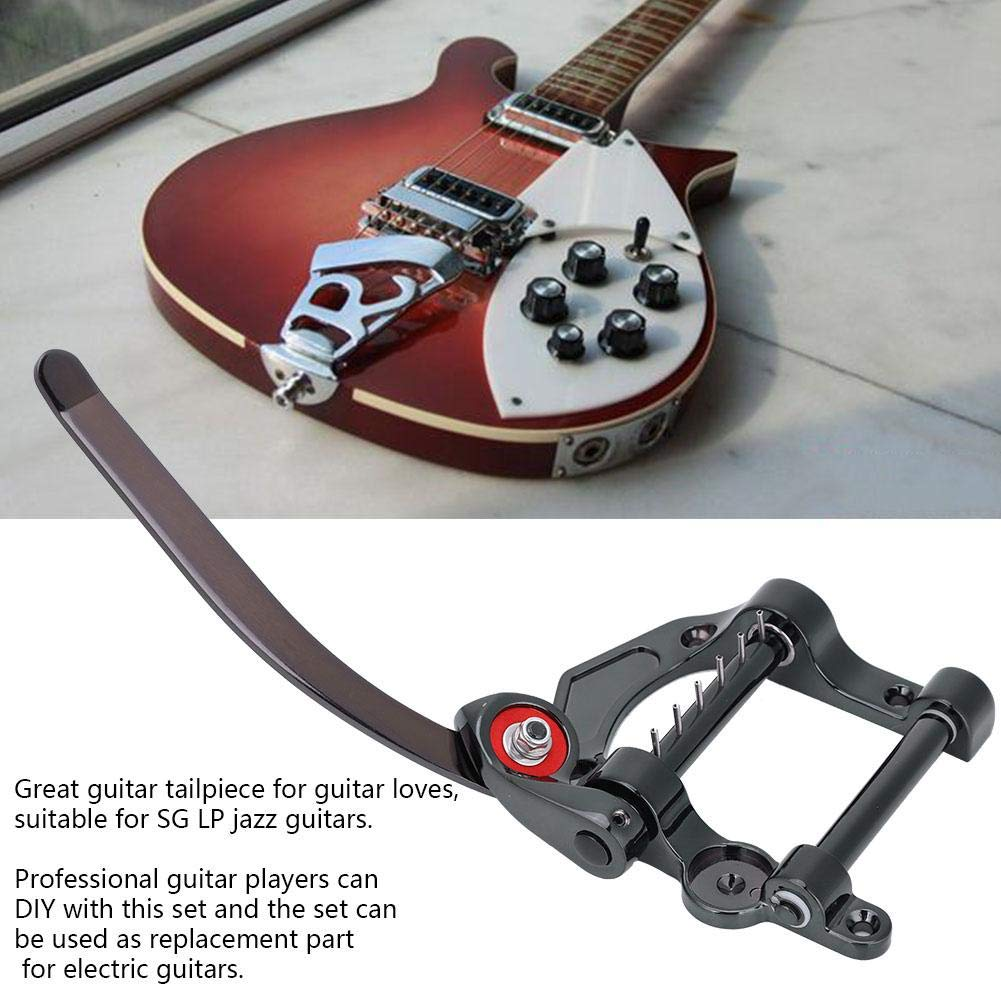 Dilwe Guitarra Puente Trémolo Tailpiece Set, Metal Tremolo Vibrato Tailpiece Rosewood Bridge Set para SG LP Jazz Guitarra Repuestos: Amazon.es: Deportes y ...