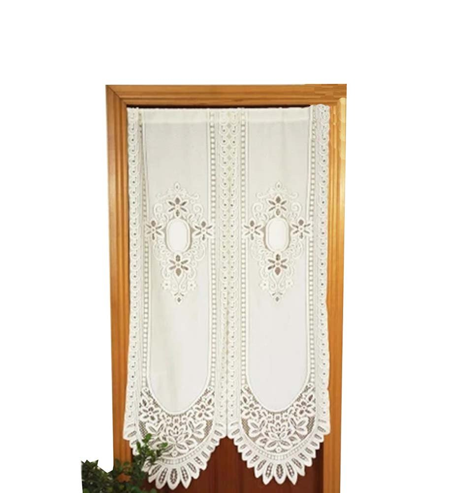 Blancho (88x155CM) Lace Valances Floral Window Valances Door Curtain Blancho Bedding