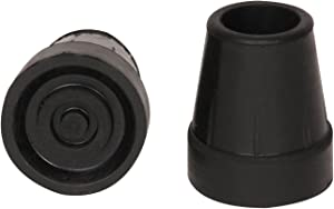 PCP Replacement Reinforced Rubber Cane Tips, Black, 3/4 Inch