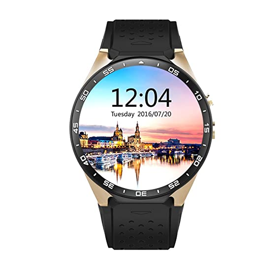 Amazon.com : layal KW88 Colorful Smart Watch Heart Rate Monitor Sleep Tracker GPS Map Bluetooth Pedometer Message for Android IOS Women Mens (black) ...