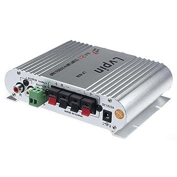 jintime Amplificador de audio para coche LVPIN LP-838 Amplificador de audio para coche 2.1
