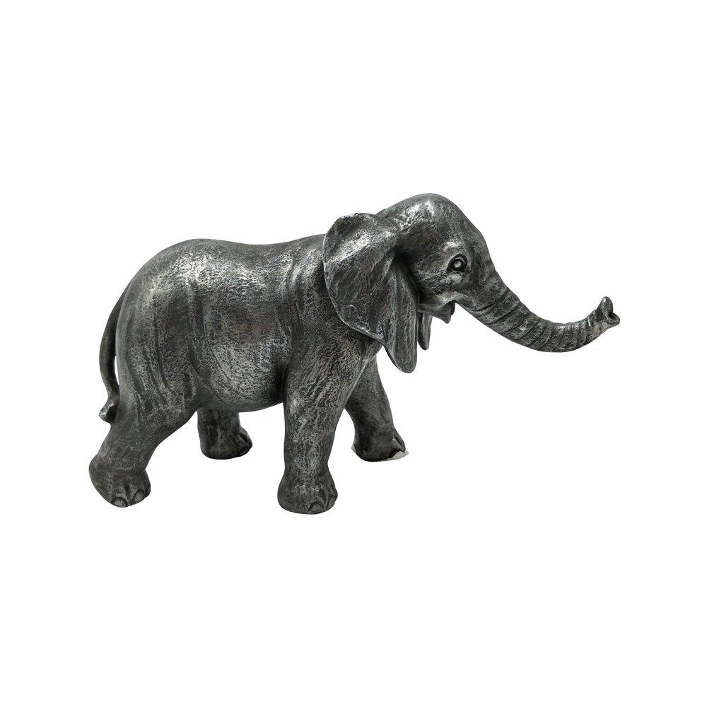 Silvery Comfy Hour 5 Decorative Elephant Figurine Antique Effect 21371