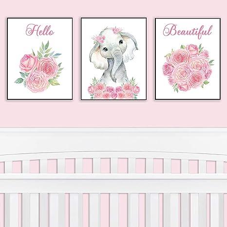 Nursery Decor Safari Elephant Bedroom Wall Art Decor For Nursery Decorative Easy To Frame