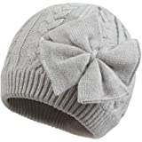 Winter Warm Knitted Baby Hat for Girls Cotton Lined Infant Toddler Girls Hat Autumn Cute Bow Classic Girls Beanie 0-6Y