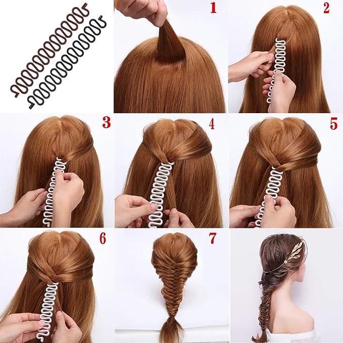 Braider Plait Twist Hair Braiding Tool DIY Korea Weave Sponge Red Hairstyling SL