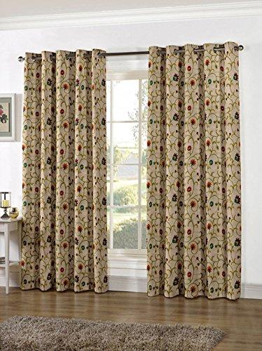 Floating Walls Linen Fabric Eyelet Door Curtain