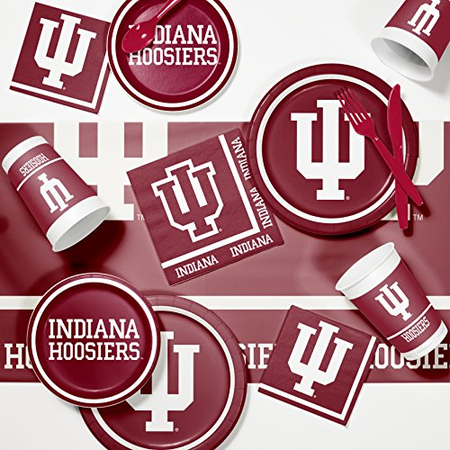 Ncaa Party Kit (NCAA Indiana University Game Day Party Supplies Kit)
