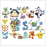 Home Décor Wall Stickers Pokemon Removable Wall Art Decals for Kids Boys Girls