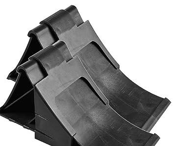iapyx - Calzos para ruedas (incluye 2 soportes, 1600 kg), color negro: Amazon.es: Coche y moto